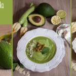 Zuppetta tiepida di avocado e zucchine