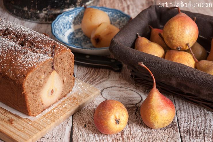 torta di pere al cacao e farro