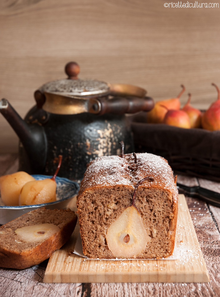 torta di pere al cacao