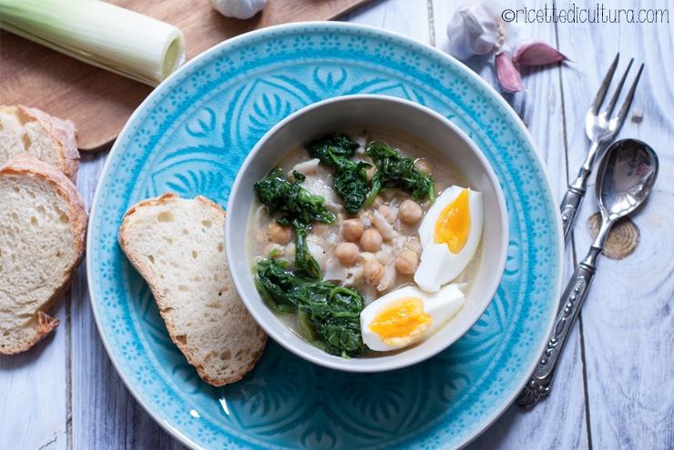 Zuppa della Quaresima Dalla Spagna una ricetta tradizionale a base di ceci e baccalà