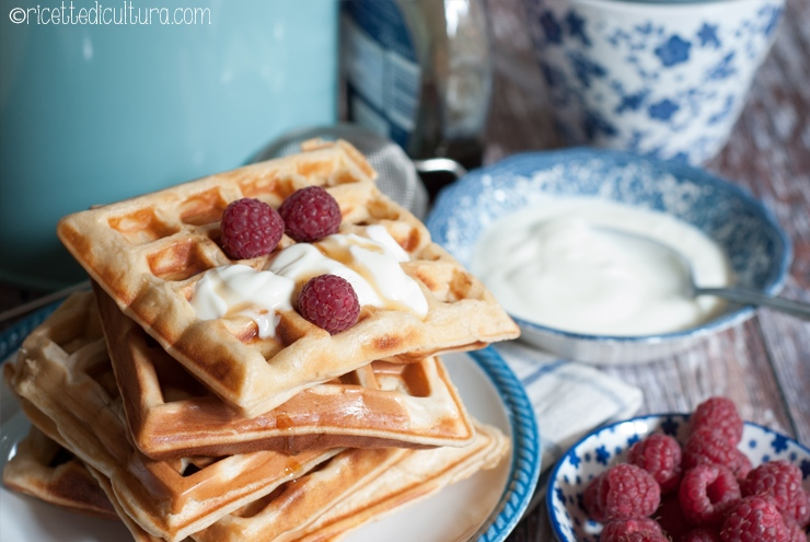 wafel allo yogurt