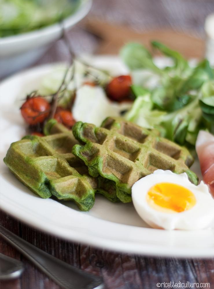 waffles salati piatto