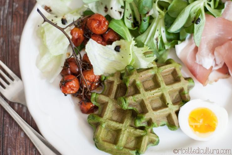waffles spinaci waffels