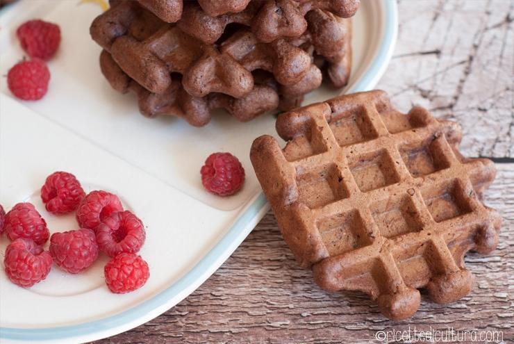 waffles cacao vegan
