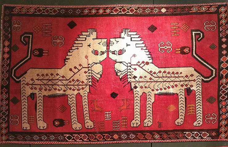 I leoni di Shiraz La cultura Qashqai in un tappeto