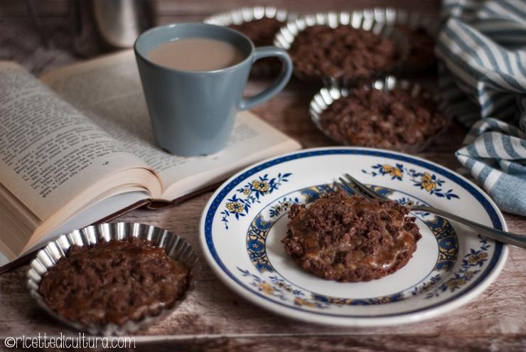 Crostatine al cacao con crema di marroni Perfette per la colazione di tutta la settimana.